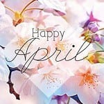 happy april with flowers