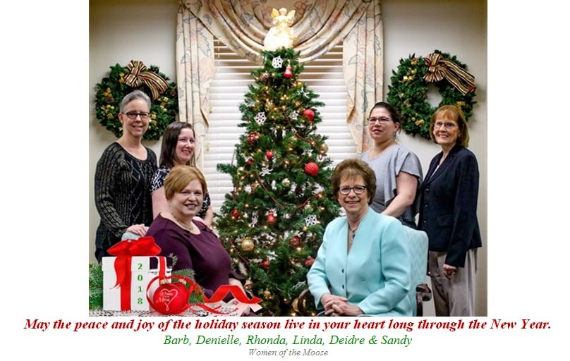 Hearts Of Christmas.Merry Christmas From The Women Of The Moose Moose